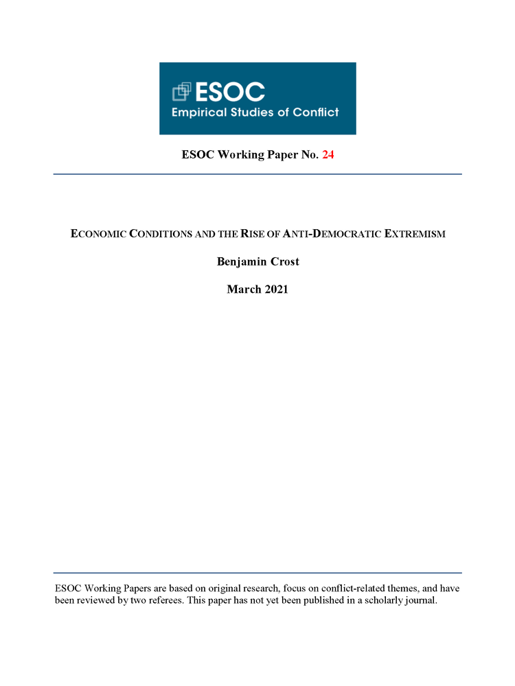 ESOC Working Paper cover page